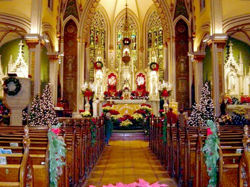 Christmas Decoration In Church