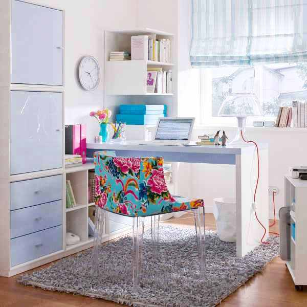 Non Girly Bedroom Ideas: Fashionable Palette: Office Space