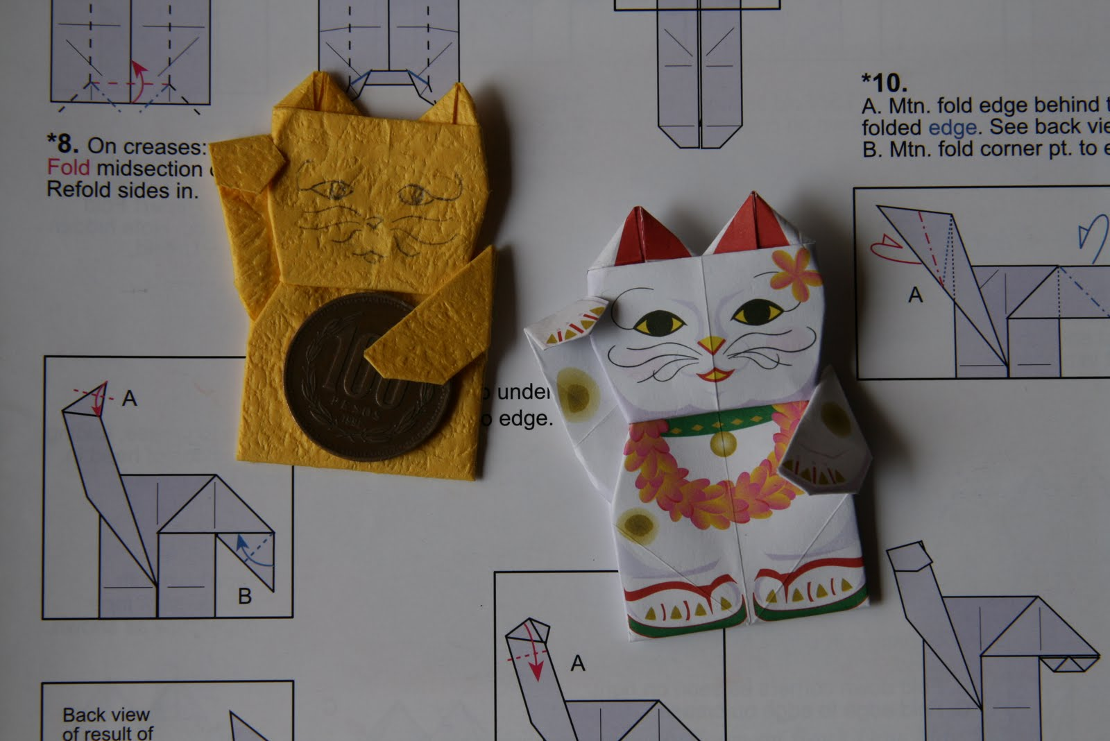 Maneki Neko Origami Instructions | Tutorial Origami Handmade - photo#9