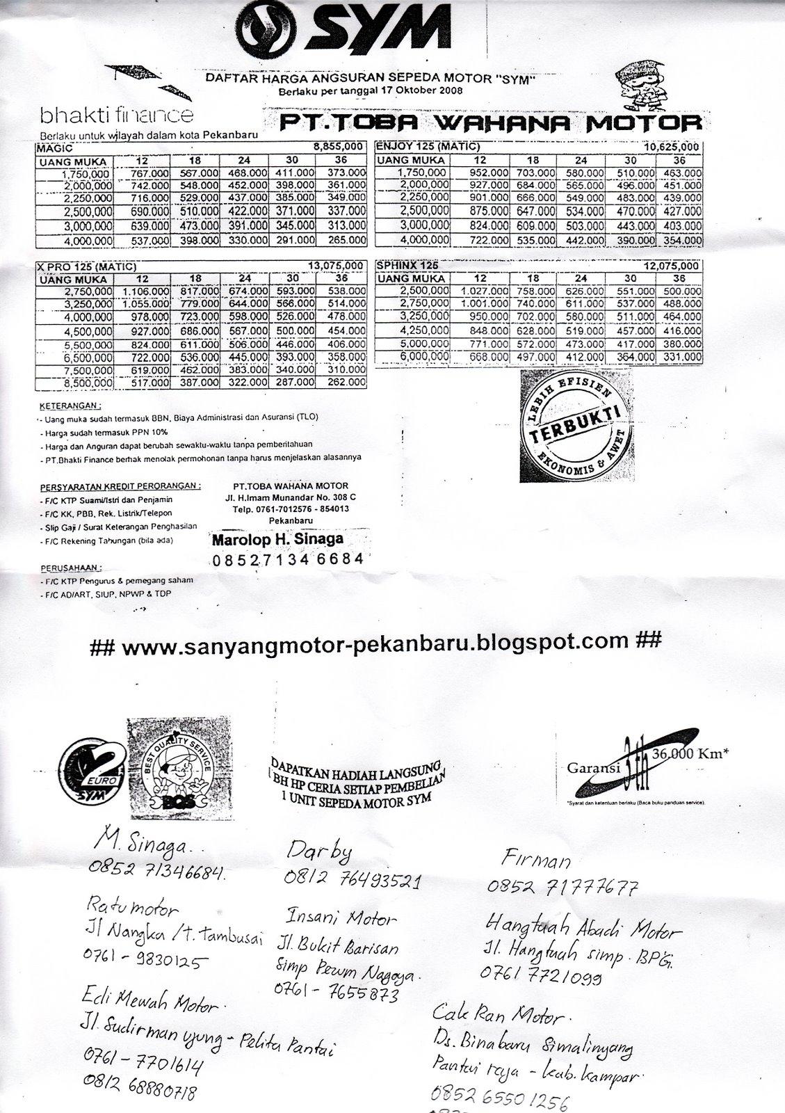 Repost dari serayamotor : SYM SPHINX 125 / XS125
