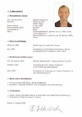 Arbeiten In Deutschland Drei Beispielen Der Lebenslaufen