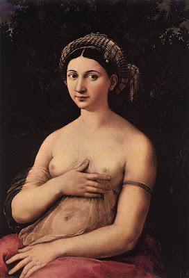 la fornarina, portrait of a young woman, Raffaello,Rafael, RETRATO DE MUJER JOVEN