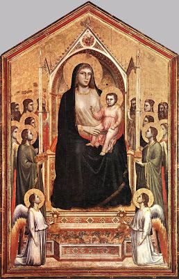 Giotto ,Ognissanti Madonna ,Madonna in Maestà