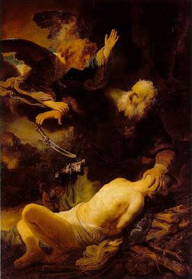 Rembrandt,Abraham ,Isaac,1634