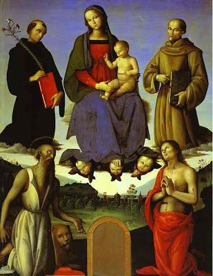 Madonna and child, Pietro Perugino,MADONNA Y NIÑO,MADONNA E CRIANÇA,MADONNA E BAMBINO,MADONNA ET ENFANT