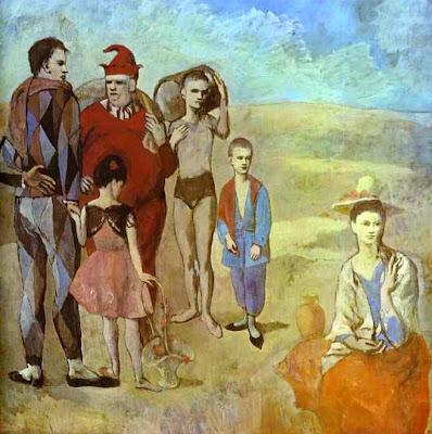 Familia de saltimbanquis ,Famille de saltimbanques, Picasso