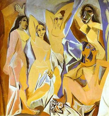 Les demoiselles d'Avignon ,Las señoritas de Avignon,Picasso