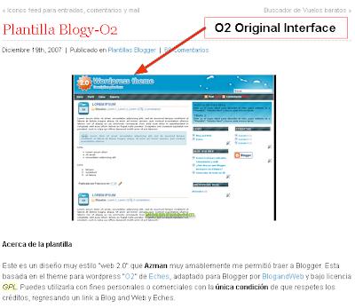 Original O2 Interface