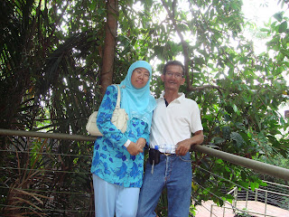 Husband and beloved wife at Eco-Park
