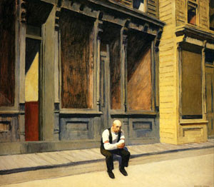 Domingo(detalle) por Edward Hopper