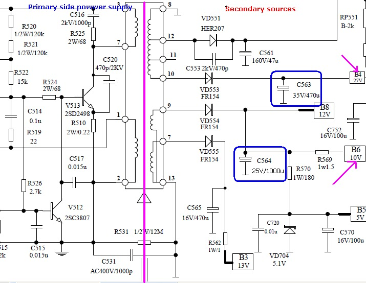 Crt Tv Power Supply Circuit Diagram Auto Electrical Wiring Diagram