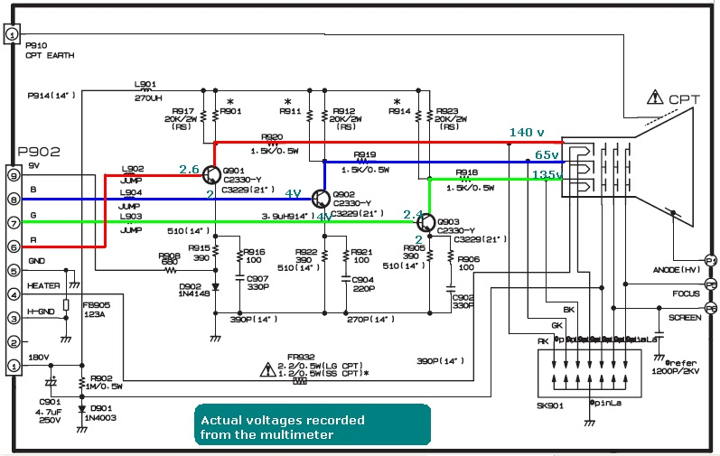 Tv Circuit Board Diagram Repair