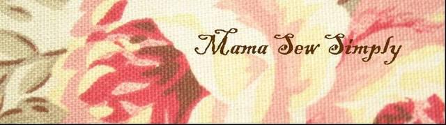 Mama Sew Simply