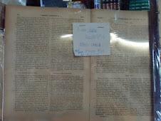 Livro raro de Filosofia, escrito em grego e italiano