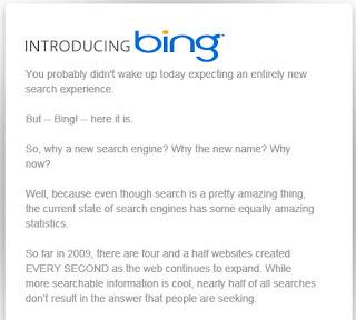 bing information