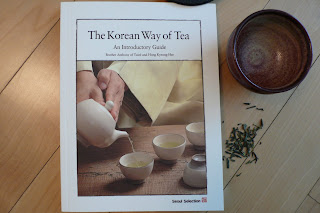 Photo of Cover of The Korean Way of Tea book with a tea cup