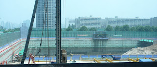 View of IFC Seoul construction site from Shinhan building