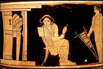 Resultado de imagen de mujer griega antigua tareas domésticas