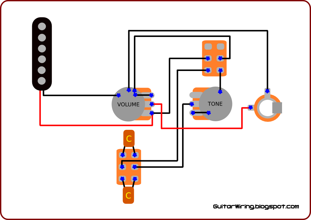 the guitar wiring blog - diagrams and tips: september 2010 push pull tone pot wiring diagram