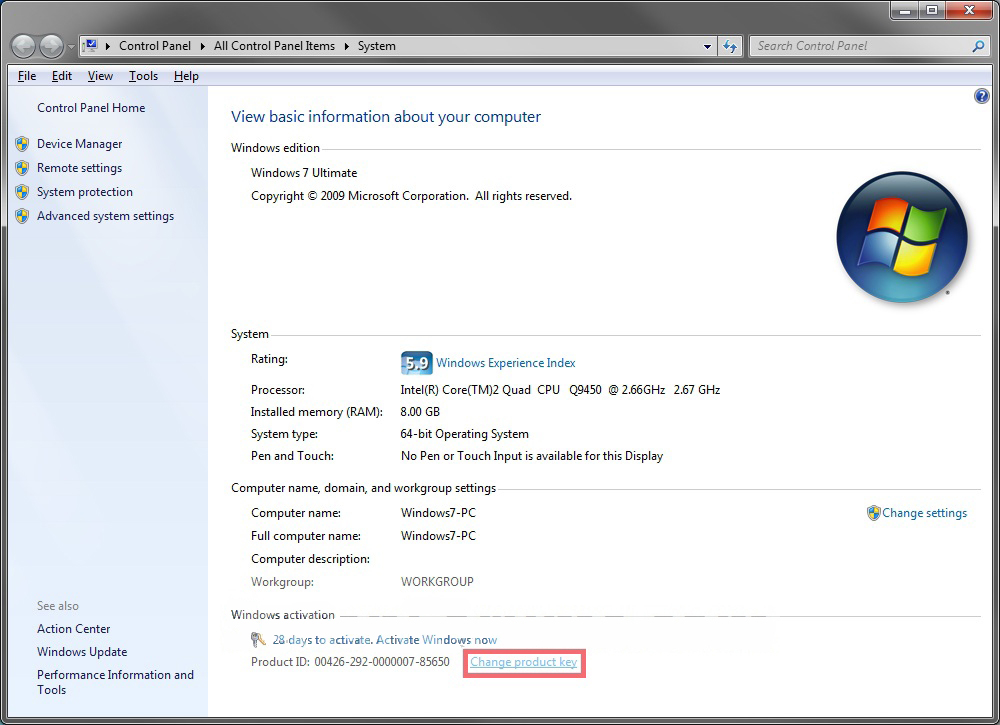 How to Change the Product Key Number in Windows 7 ...