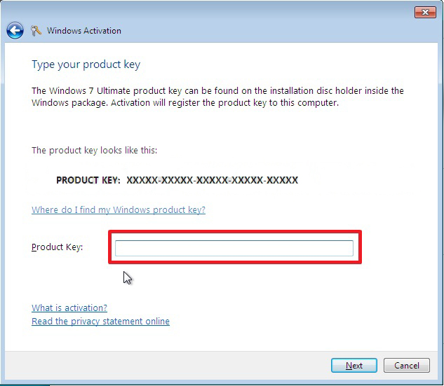 How to Change the Product Key Number in Windows 7 ~ Windows 7 Support