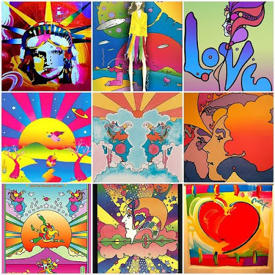 Exit 95 on The Yellowbrick Road...: The 70's Peace, Love ...  Peter Max 60s