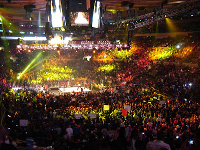WWE Royal Rumble At Madison Square Garden January 27, 2008. Surprise  Appearances: John Cena, Mick Foley, Roddy Piper, Jimmy Snuka.