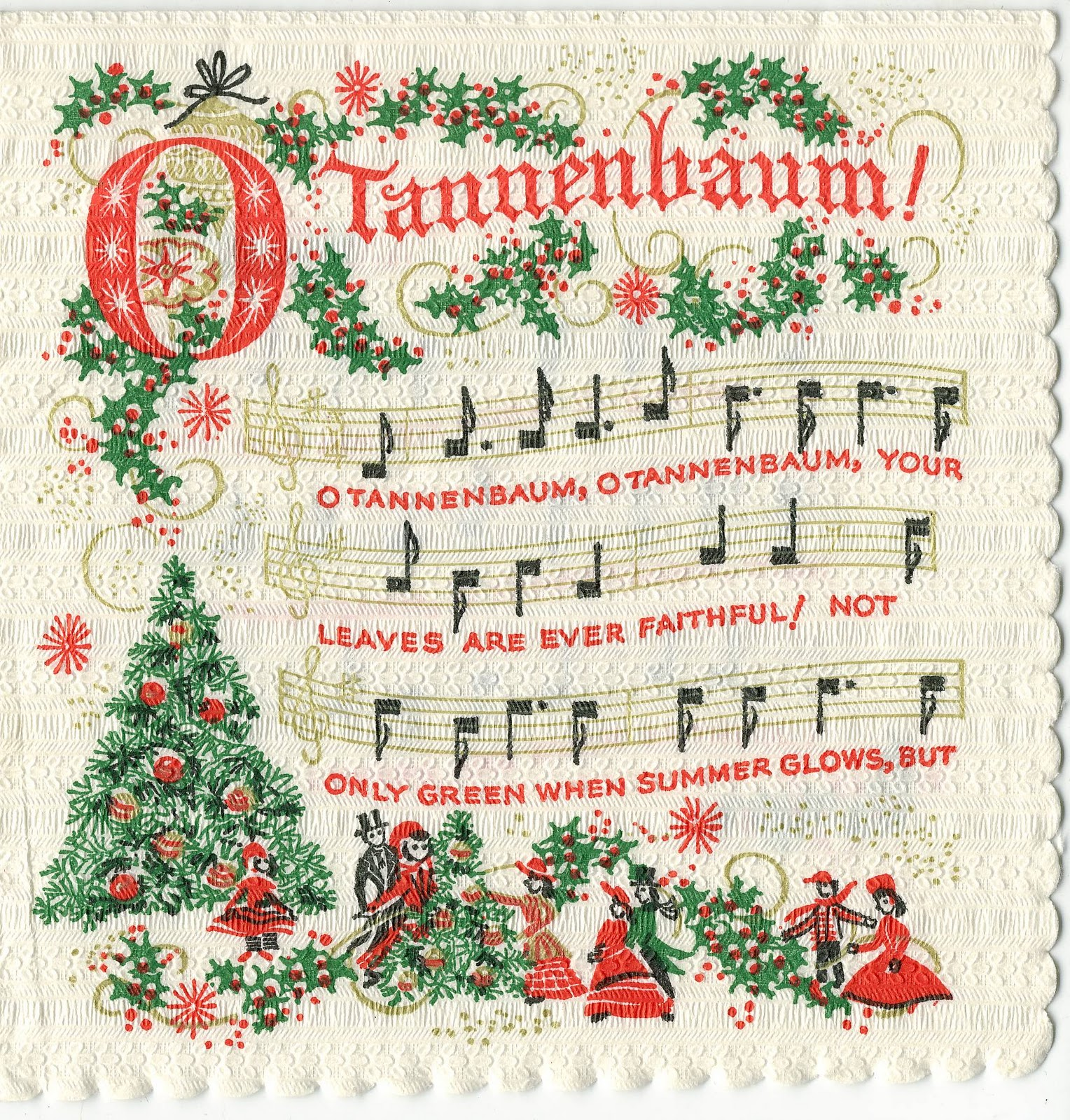 O Christmas Tree Christmas Cards: The Sum Of All Crafts: Make Merry Music