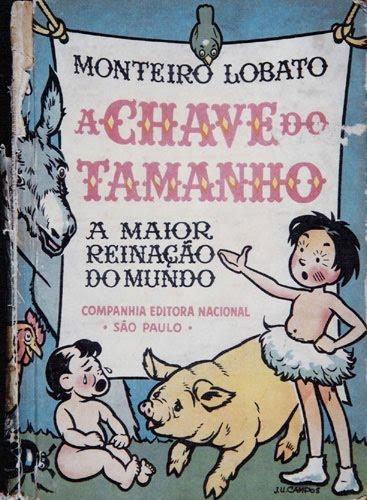 8535dd7d9 Encantamentos Literários  A chave do tamanho - Monteiro Lobato