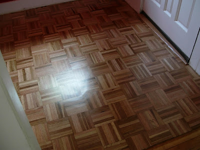 Floor Refinish In Entry Room