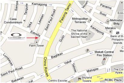 San Antonio Village Map Makati