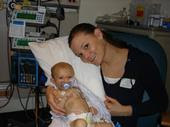 Mommy and Caden in the PICU