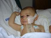 Daddy and Caden in the PICU