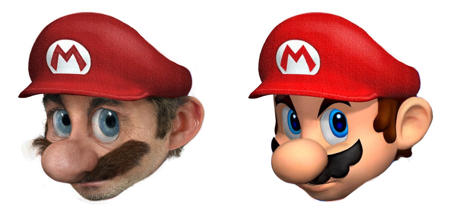 Imágenes 3D realistas de personajes ficticios