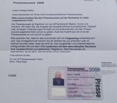 Presseausweis Bekommen