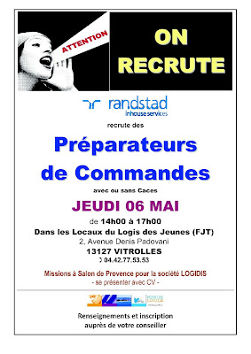 Recrutement pr parateur de commandes - Mission locale portes de provence ...