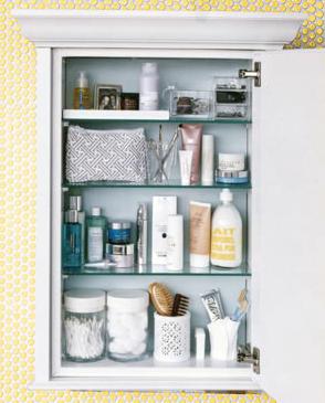 Cosmetic Cabinet Organization