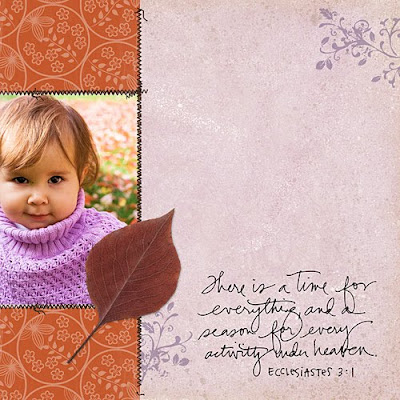 Fall Digital Scrapbook Page