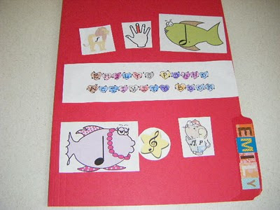 Piano Preschool Lapbook Cover with music rhythms and notes