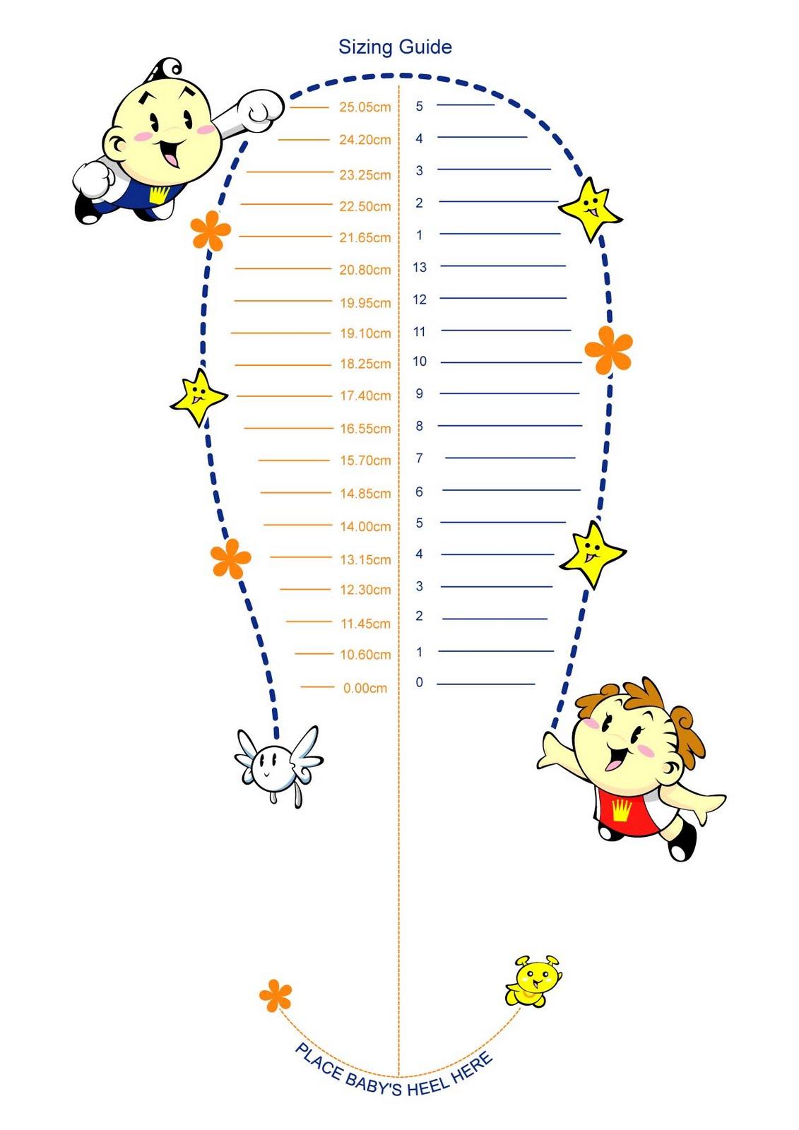 Printable Child Foot Measure 9jasports