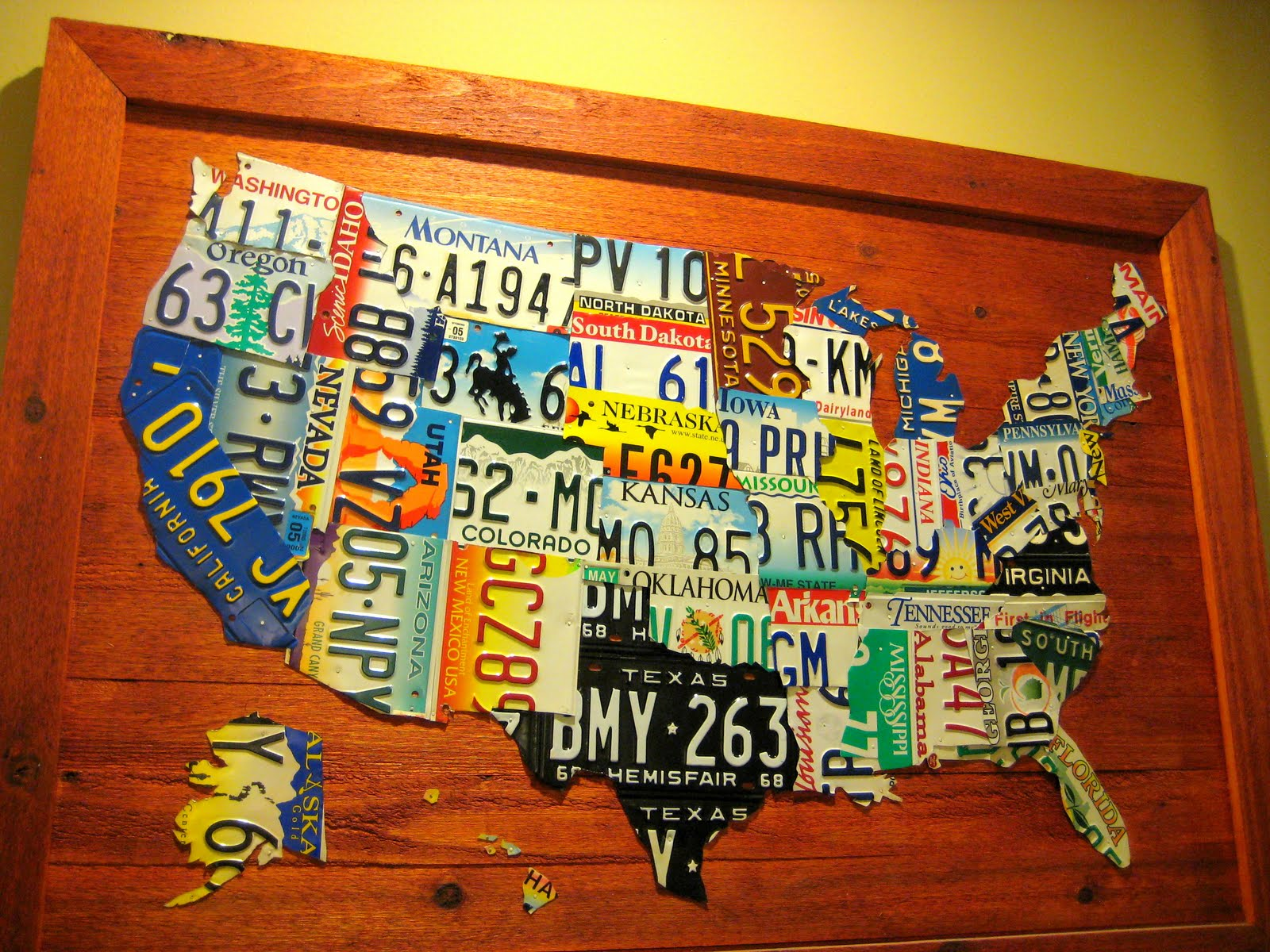 Us Map Made Out Of License Plates.Update C R A F T 31 License Plate Map C R A F T