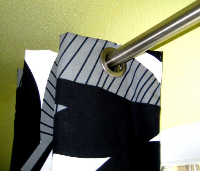 DIY grommet curtains
