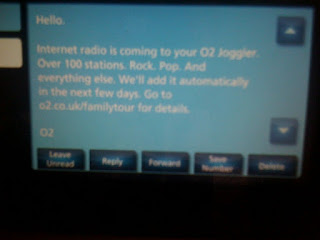 Joggler radio announcement