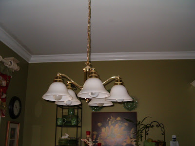 Before and After Brass to Bronze Light Fixture  Southern