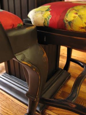painting old furniture black