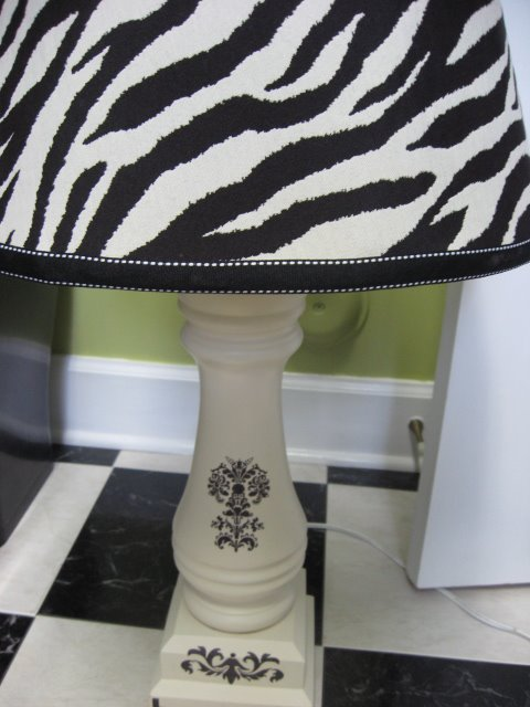 Covering a lampshade southern hospitality and they are custom lamps one of a kindeven better so dont throw out those old lampshades look at them in a whole new lightget it aloadofball Images