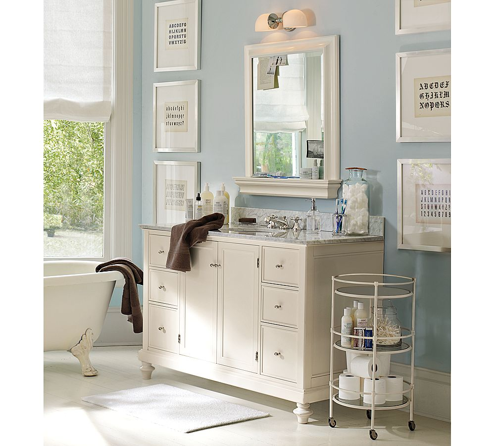 Pottery Barn Lighting Bathroom: Kicking It In The Suburbs: Master Bath Inspiration