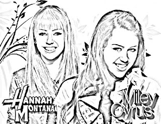 Coloring Pages for everyone: Hannah Montana Coloring Pages