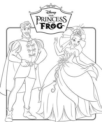 Coloring Pages for everyone: Disney Princess Tiana and The