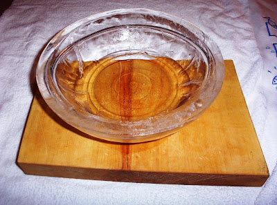A bowl made of ice.
